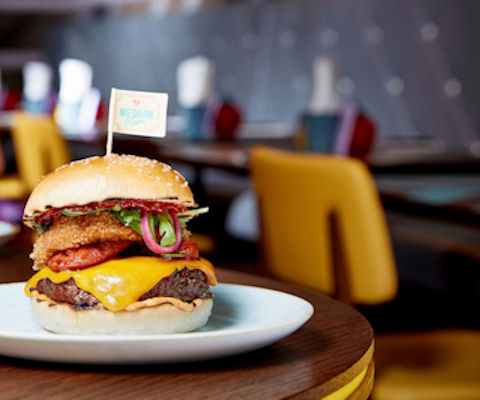 Restaurants near Old Trafford boat cruise ~ GBK Manchester Spinningfields