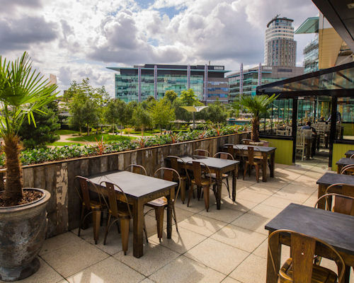 European Restaurants in Manchester - The Botanist MediaCityUK