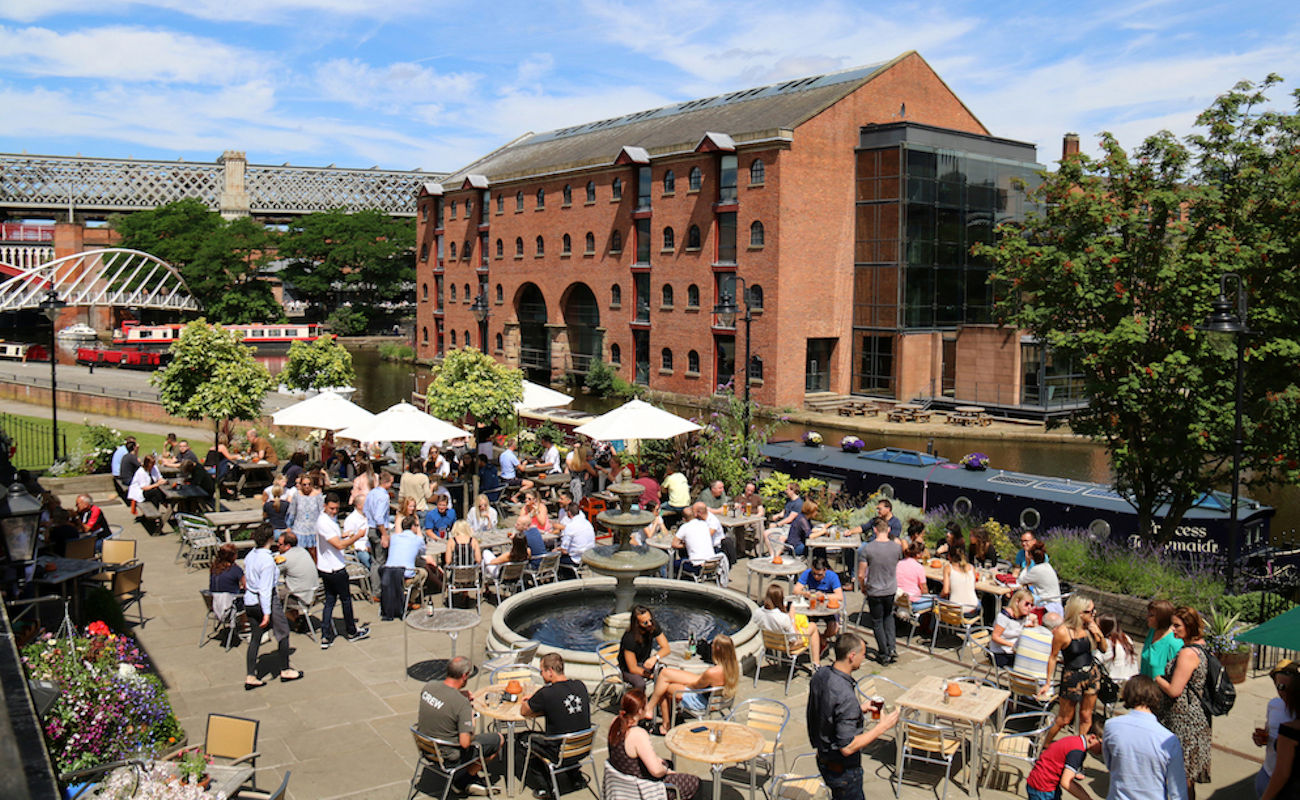 Restaurants in Manchester with Alfresco Dining ~ The Wharf Manchester